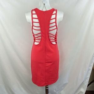 LUSH Red Open Back Dress - L